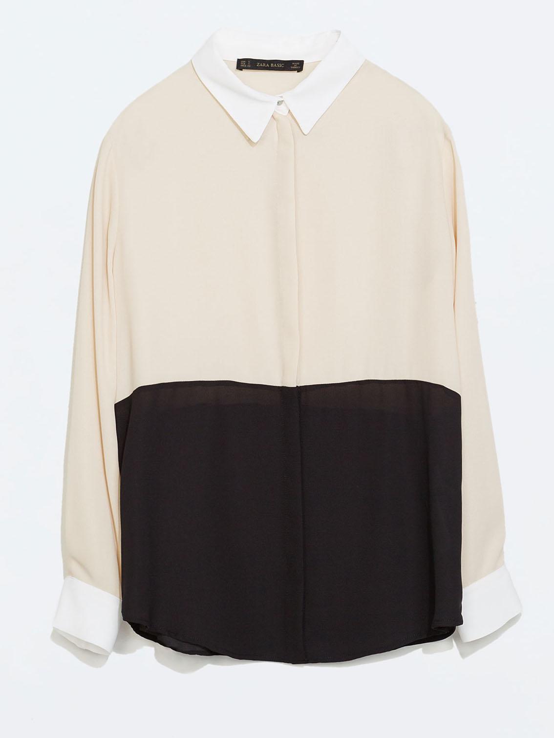 Chemise bicolore Zara, 29,95€