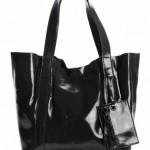 La redoute - sac cabas, petit format verni, 45€